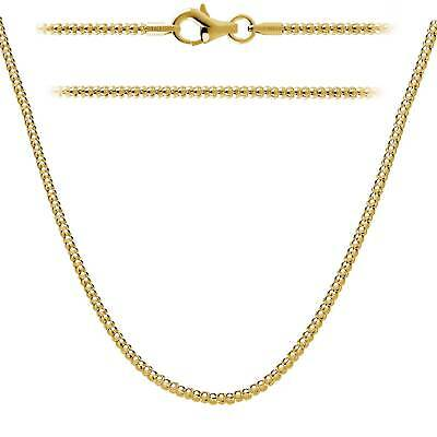 Sterling Silver 925 Gold Plated 2mm Italian Popcorn Chain w/Silver Lobster (Italian Popcorn Chain)