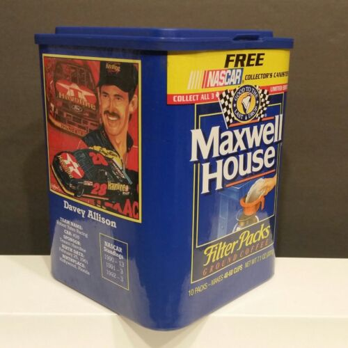 Davey Allison #28 Maxwell House Coffee Limited Edition NASCAR Collector Canister