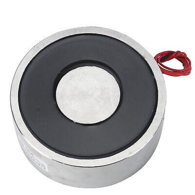 Metal 300lb 150kg 1500n Electric Lifting Magnet Holding Electromagnet 12v24v Dc