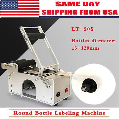 Lt-50s Semi-automatic Labeler Machine Round Bottle Labeling Machine