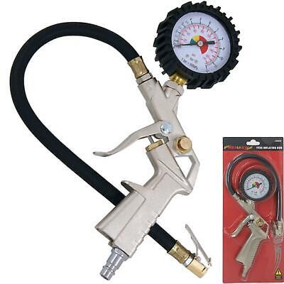 Neilsen Garage Air Line Tyre Pump Inflator Pressure Gauge For Compressor Gun