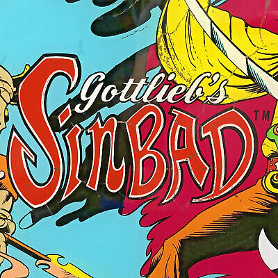 Gottlieb Sinbad Pinball Machine Game Backglass
