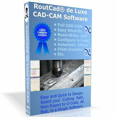 Cad Cam Software Luxe Cnc Mill Mach 3 Emc2 G-code With Tutorial Video Download