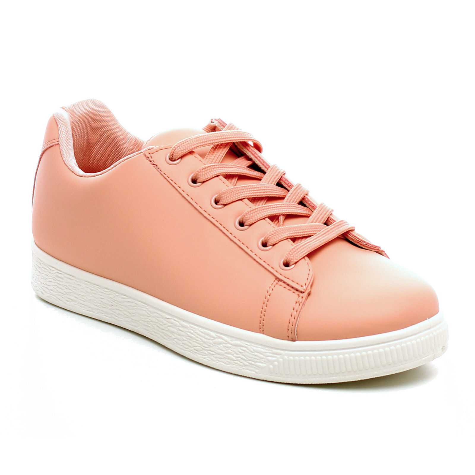 Women Fashion Sneakers Lace up Faux Leather Athletic Shoes Sports  Running Shoes