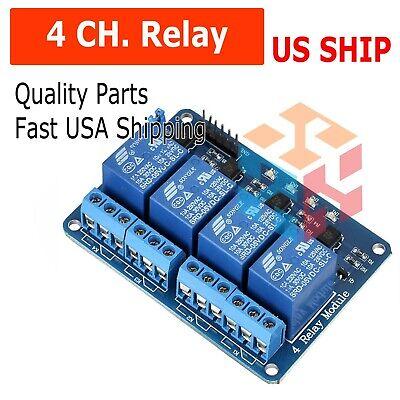 4 Channel 5v Relay Shield Module Board For Arduino Raspberry Pi Arm Avr Cn