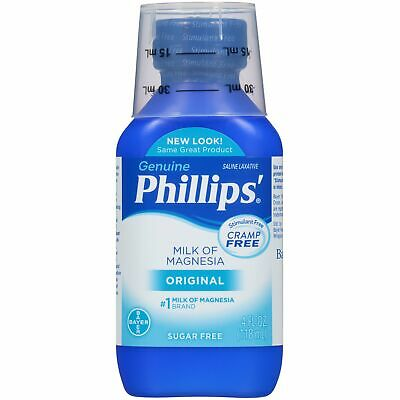 Phillips Milk of Magnesia Liquid Saline Laxative Original Flavor 4 FL OZ, 1 Pack