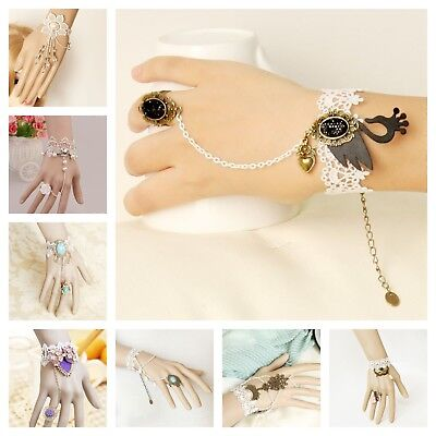 Original Designer Handmade Lace Bracelet Ring Halloween Costume Bridesmaid NEW