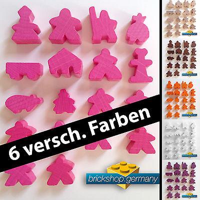 18 Stk Carcassonne Meeple SET, Spielfiguren, Holz Männchen - 6 versch. FARBWAHL online kaufen
