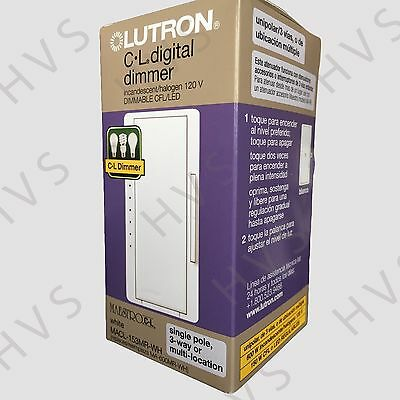 Led Locator Dimmer - Lutron Maestro 150-W Single-Pole/3-Way/Multi-Location  CFL-LED Dimmer