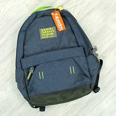 NEW Superdry Webster Montana Rucksack Blue Marl Backpack Unisex M91025DQ Outdoor