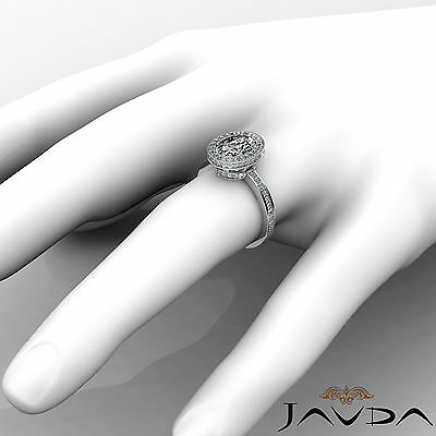 Crown Halo Pave Set Oval Cut Diamond Engagement Ring GIA Certified F VS2 1.82Ct 3