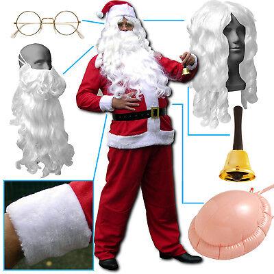 Verkleidung Kostüme (Weihnachtsmannkostüm, Weihnachtsmann Nikolaus Kostüm Anzug Bart Verkleidung 🎅)