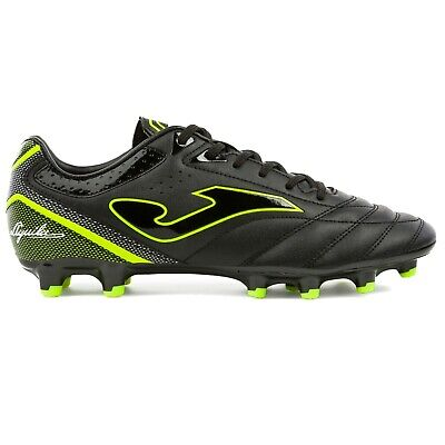 Joma Men's Aguila FG Firm Ground Soccer Shoes (Black / Fluoro Yellow)