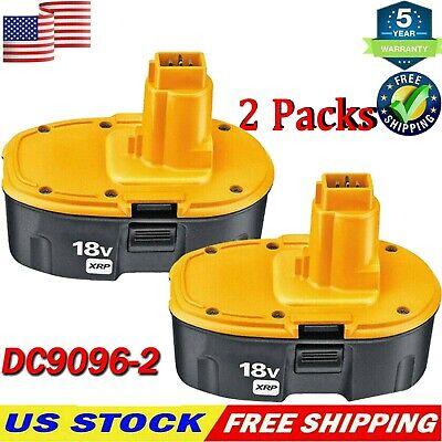 2-Pack 18 Volt for Dewalt XRP Battery DC9096-2 DC9098 DC9099 DW9096 DC9096 US