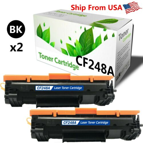 2 PK CF248A 48A Toner Cartridge for HP LaserJet Pro MFP M29w M31w Printer