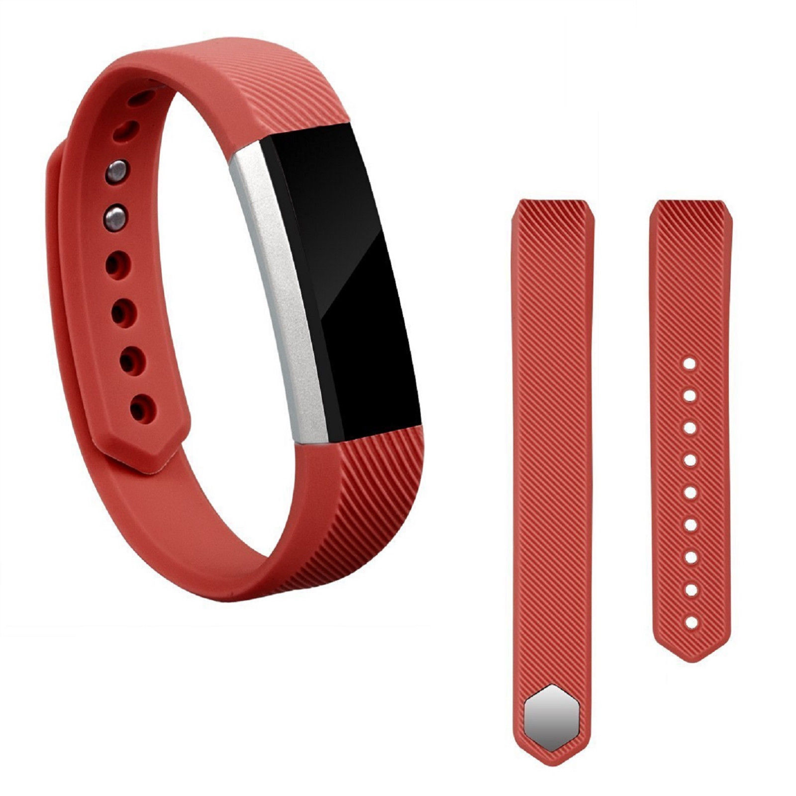 Replacement Silicone Wrist Band Strap For Fitbit Alta/ Fitbit Alta HR Red