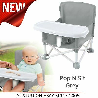 Summer infant Pop N Sit Portátil Asiento Elevado Plegable Interior / Silla Gris