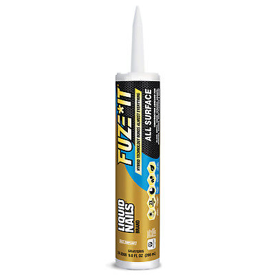 Liquid Nails FUZE IT ALL SURFACE CONSTRUCTION ADHESIVE GRAY INSTANT GRAB INT/EXT