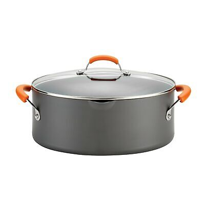 Rachael Ray Hard-Anodized Nonstick 8-Quart Covered Oval Past