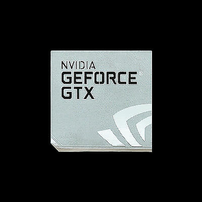 NVIDIA Gerforce GTX Metal Decal Sticker Case Computer PC Laptop Badge (Type A)