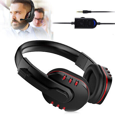 Pro Gaming Headset With Mic For XBOX One PS4 Laptop Headphones Microphone 2020