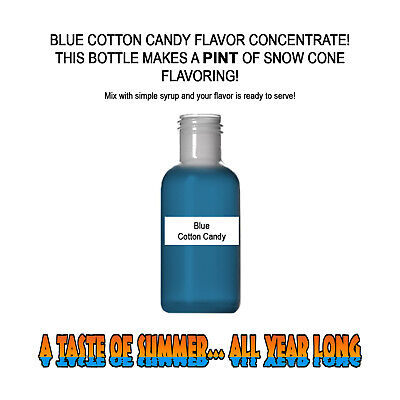 Blue Cotton Candy Mix Snow Coneshaved Ice Flavor Pint Best Concentrate 1
