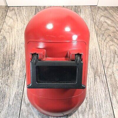 Vintage Rare Jackson Products Red Welders Mask Helmet Face Shield