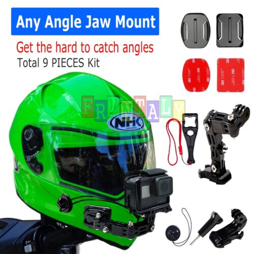Helmet Front Chin mount & Genuine 3M Sticker for Gopro Hero cameras 6/5/4/3/3+/2