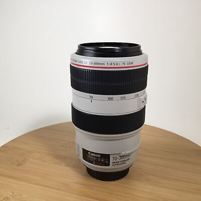 Canon EF 70-300mm F4-5.6 L IS USM Lens Used EX