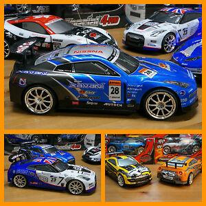 DRIFTING-CAR-1-18-RADIO-CONTROL-NISSAN-GT-4WD-NARANJA-RC-SUPER-DERRAPAJES