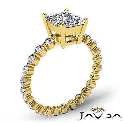 Cushion Cut Diamond Pave Vintage Engagement Ring GIA G SI1 14k White Gold 1.7 ct 4