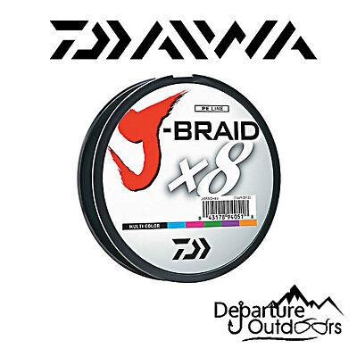 Daiwa J-Braid X8 Braided Fishing Line - 330 Yards (300 M) Multi-Color Line