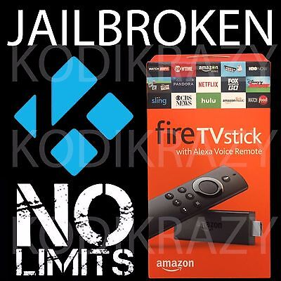 AMAZON FIRE TV STICK 2nd Gen w/v17.4 NO LIMITS BUILD! BEST AND EASIEST TO USE!