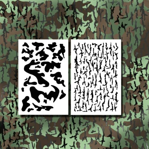 Camo Stencils for Spray Paint Duck Jon Boat Stencils Camouflage Bark Army Design
