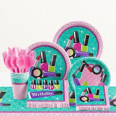 Sparkle Spa Birthday Party Supplies Kit (Spa Party Supplies)