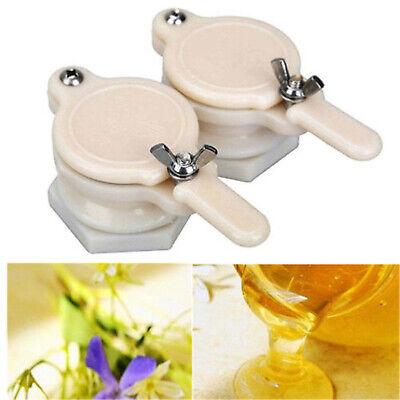 2x Plastic Bee Honey Tap Beekeeping Gate Valve Bottling Extractor Equipment Tool
