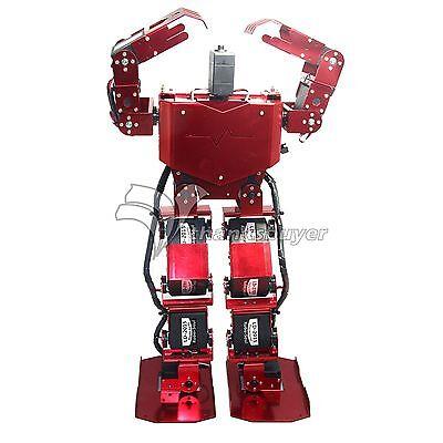 Biped Robtic 17DOF Robo-Soul H3.0 Two-Legged Human Robot Aluminum Frame kits Red