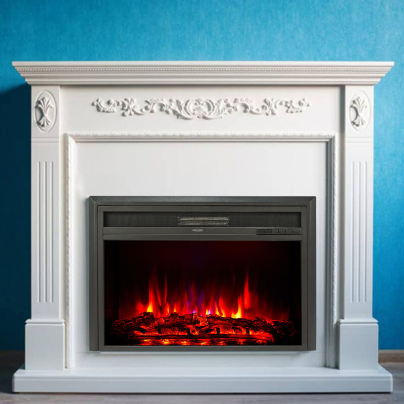 """32"""" Recessed Electric Heater Fireplace Insert w Remote Control Thermostat 1500W"""