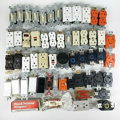 Lot Of Electrical Outlet Receptacles Switches