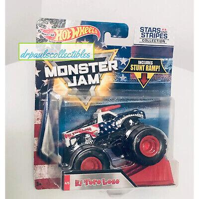 Hot Wheels Monster Jam 2018 Stars & Stripes EL TORO LOCO 1:64 New Rare (READ)