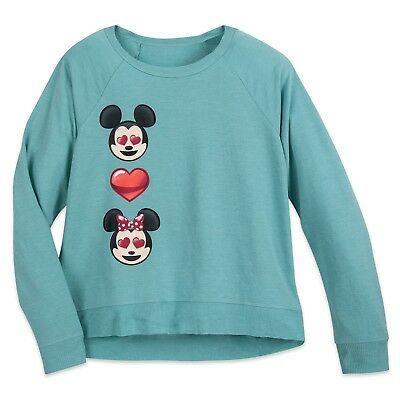 Mickey Emoji (Disney Store Mickey and Minnie Mouse Emoji Raglan Top Boutique Womens Size Small)