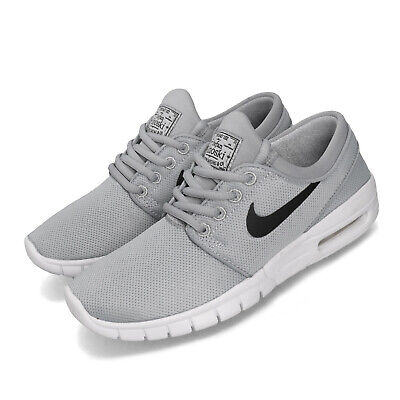 Nike SB Stefan Janoski Max GS Wolf Grey Black White Youth Kids Shoes