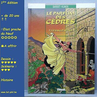 Le Parfum des cèdres, 1, Le sang d'Adonis, Klimos, Bardet, Glenat, EO, 1997, EN