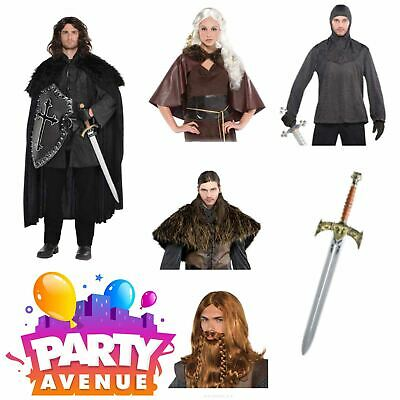 Medieval Warrior Adult History Costumes Accessories Fancy Dress Lot (Medieval Costume Accessories)