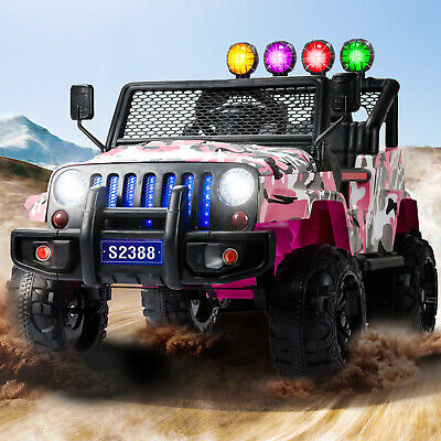 12V Battery 3 Speed Kids Ride on Cars Electric Power W/ Remote Control MP3 Pink