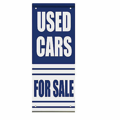 Used Cars For Sale Auto Body Shop Double Sided Vertical Pole Banner Sign