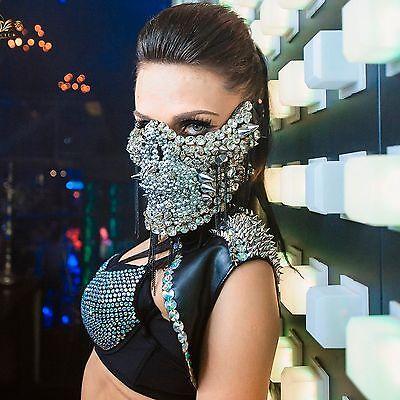Skull Mask Skeleton Mask Halloween Mask Party Mask Face Mask Rave Wear Dancers (Halloween Rave Wear)