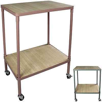 Tisch Rollen Servierwagen Rollregal Küchentrolley Küchenwagen Regal 2 Ablagen