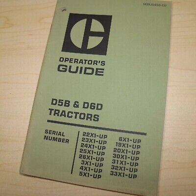 Cat Caterpillar D5b D6d Tractor Dozer Crawler Operation Owner Manual Guide Book