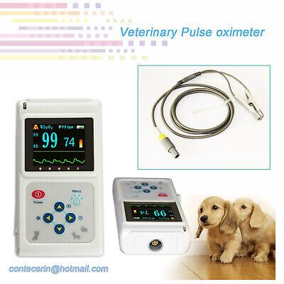 Vet Veterinary Pulse Oximeter Spo2 Monitor Pr Pc Analysis Software 1.8 Lcd